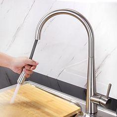 HPB Contemporânea Pullout spray acabamento escovado bronze Um Buraco único punho torneira da cozinha – EUR € 86.81