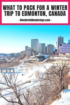 Planning a trip to Edmonton, Canada in winter? Click to learn what to pack to make sure you don't freeze and can enjoy both indoor and outdoor activities. | Canada travel tips - Canada travel guide - Canada travel itinerary - Canada travel destination - Canada travel - Edmonton travel itinerary - Canada travel winter - Edmonton Canada - Things to do in Canada - Canada packing list Packing List For Vacation, Packing Tips, Travel Packing, Travel Guide, Canada Canada, Canada Travel, What To Pack, Travel Light, Winter Travel