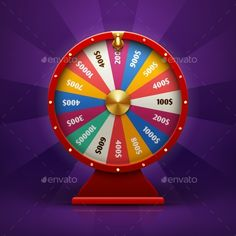 Realistic 3d Spinning Fortune Wheel - Man-made Objects Objects