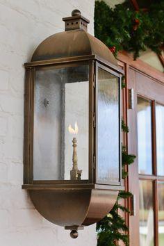 Beautiful natural copper exterior gas light fixture. | Gas Copper ...