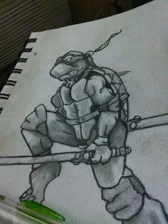 Jedi turtle. #tattoo, #Riddlez, #tmnt.