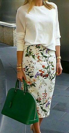 Hermosa falda print floral