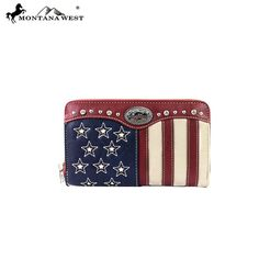 Montana West Wallets American Pride  USA Red Trim NIB #MontanaWest #Wallet