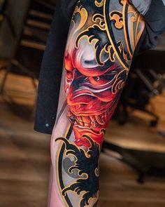 tatouage dos conception japonaise - tatouage dos conception japonaise The Effective Pictures We Offer You About diy face mask sewin - Oni Tattoo, Mask Tattoo, Irezumi Tattoos, Geisha Tattoos, Samoan Tattoo, Polynesian Tattoos, Tattoo Arm, Chest Tattoo, Japanese Tattoos For Men