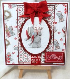 Tatty Teddy Handmade Card using products from Trimcraft x