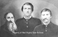 """Hatfield and McCoy feud--""""Devil Anse,"""" with brothers Ellison and Smith Hatfield"""