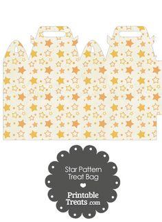 Vintage Orange Star Pattern Treat Bag from PrintableTreats.com