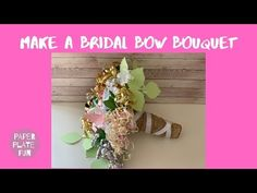 Attention maids-of-honor! Learn how to make the prettiest bridal shower bow bouquet for the wedding rehearsal with paper plates and these simple steps! This bow bouquet is gorgeous! Wedding Rehearsal Bouquet, Bridal Shower Bouquet, Bridal Shower Gifts, Bow Bouquet, Bouquets, Wedding Pins, Wedding 2015, Wedding Ideas, Bridal Shower Planning