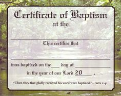 Baby christening certificate template free baby boy for Baptism class certificate template