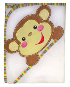 $25.00-$8.99 Baby Fisher-Price Rainforest Character Applique Hooded Towel -  http://www.amazon.com/dp/B001RIY7JE/?tag=pin2baby-20