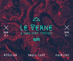 LE VERNE on Typography Served