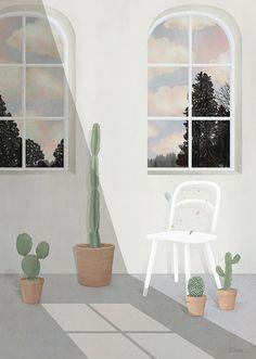 Lonely / 2015 / Digital Painting / ⓒ ENSEE - Choi Mi Kyung