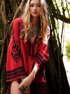 deep red tunic... - boho - ☮k☮