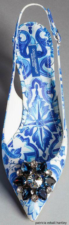 Dolce & Gabbana, Winter 2016, Fashion, Blue Majolica, h-a-l-e.com #SummerBlue♥•♥•♥