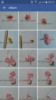 This Pin was discovered by nil Crochet Flower Tutorial, Crochet Flowers, Needle Tatting Patterns, Diy And Crafts, Arts And Crafts, Hairpin Lace, Needle Lace, Needlepoint, Hair Pins