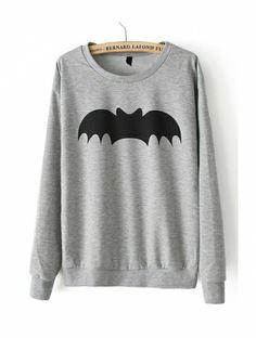 Grey Bat Sweatshirt | D.M. Retro