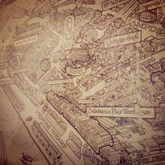 #HotelArt #LennaOfHobart. Amazing old map of Hobart - #Instagram @emmalucey