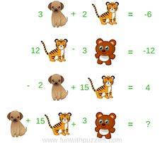 In these Picture Puzzles, maths equations have been given. However, in each of the equation, Maths variable has been replaced with pictures. Solve these picture puzzle equations to get the value of the last equation. Mind Puzzles, Maths Puzzles, Puzzles For Kids, Hard Brain Teasers, Brain Teasers For Kids, Brain Teaser Questions, Math Questions, Mathematics Pictures, Algebra Problems