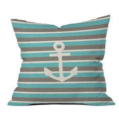 DENY Designs Bianca Green Anchor 1 Throw Pillow | Pure Home