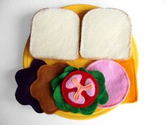 Fun toy for felt sandwich makings