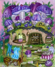 Coloring Books, Coloring Pages, Mushroom House, Markova, Prismacolor, Ramadan, Colored Pencils, Holi, Fall Decor