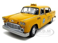 1981 Los Angeles Taxi Cab Checker Diecast Car Model 1/18 Die Cast Car By Sunstar