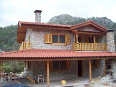 Village House Design, Village Houses, Stone House Plans, Stone Exterior Houses, Farmhouse, House Styles, Outdoor Decor, Home Decor, Stone Cottages