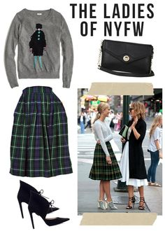Full Midi Skirts at NYFW