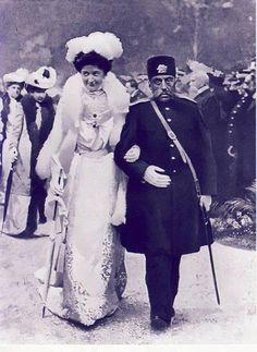 مظفرالدین شاه و پرنسس اِلنا (پرنسس ایتالیایی) رم 1902