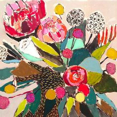 Lulie Wallace Paintings    I am currently obsessed with the gorgeous floral paintings of Lulie Wallace. From the vibrant color palettes to the bold brushstrokes to the geometric forms, they are just perfection. Be sure to check out her blog for more and don't miss her shop where you can make one of her pieces your own.