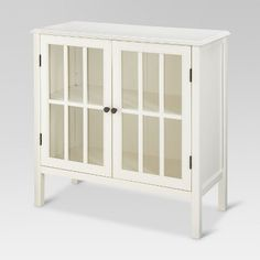 White cabinet between 2 armchairs, lamp on top, and to house stereo/music/books/puzzles/games ,etc (Windham Two-Door Storage Cabinet Black - Threshold™ : Target) Door Storage, Storage Cabinets, Storage Shelves, Locker Storage, Curio Cabinets, Smart Storage, Extra Storage, Entryway Cabinet, Cabinet Drawers