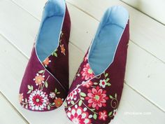 Kimono Shoes Pattern! So cute! Describes each step detailed with computer drawn accurate Patterns!