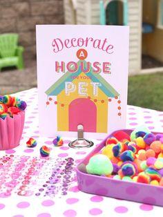 Pet Adoption - Adopt a pet birthday party printables