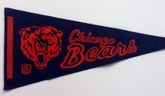 Vintage Chicago Bears Pennant  on Etsy, $18.00