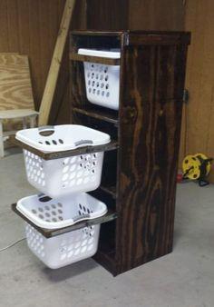 home decor Laundry Basket Storage Handmade Hampers Organize Rustic Western Decor Laundry Basket Storage, Laundry Room Organization, Laundry Room Design, Storage Baskets, Organization Ideas, Laundry Basket Dresser, Laundry Rooms, Bin Storage, Laundry Decor