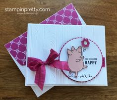 Stampin Up This Little Piggy Thank You Cards Ideas - Mary Fish StampinUp