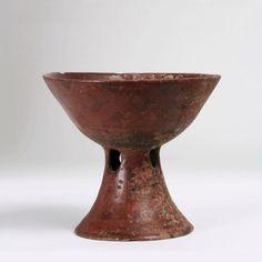 Pre-Columbian Pottery Pedestal Bowl - Cocle Culture - Panama / 600 AD - 1000 AD
