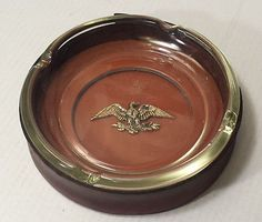 """8"""" Large 2 pc Cigar #ashtray (removable insert) with USA Eagle Symbol visit our ebay store at  http://stores.ebay.com/esquirestore"""