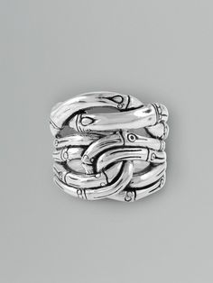 John Hardy Silver Sterling Silver Bamboo Ring