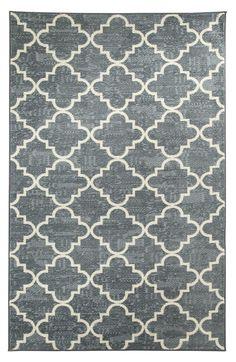 Strata Fancy Trellis Gray Printed Area Rug