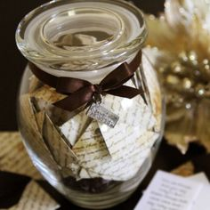 wedding wishes in a jar.
