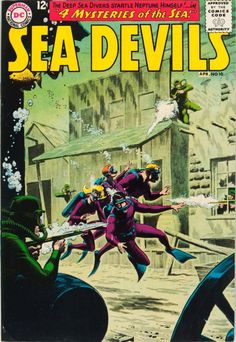 Sea Devils #10 (1963). Cover art: Russ Heath, Jack Adler.  The Best UNDERWATER Comic Book Covers -  A collection of some of the top underwater comic book covers ever created.