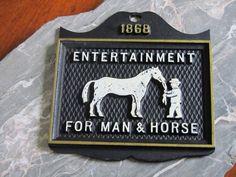 Horse Plaque 1868 Entertainment for Man & Horse by SaleOfEstates, $20.00