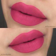 Matte pink lips.  #makeup #lips #lipstick #pinklipstick #beauty