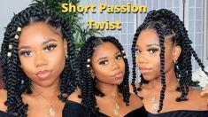 Watch it here! Photo Credit: Chev B Big Twist Braids Hairstyles, Black Girl Braided Hairstyles, Braided Hairstyles Tutorials, Kinky Hairstyles, Hairstyles Videos, African Hairstyles, Summer Hairstyles, Short Twists, Short Braids