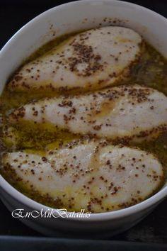 Pechugas marinadas en agridulce de mostaza