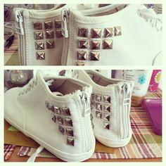 #diy #studded #shoes