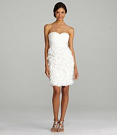 JS Collections Strapless Dress #Dillards - in blush... if I get my arms looking better :)