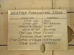 Weather forecasting stone. Farm humor