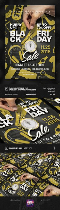 Black Friday / Sale flyer Template PSD